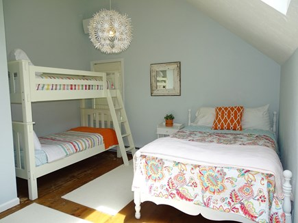 Barnstable Cape Cod vacation rental - Upstairs double bed with bunks, skylight