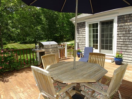 Barnstable Cape Cod vacation rental - Deck faces large back yard