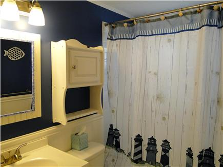 South Dennis Cape Cod vacation rental - Full bathroom with shower and tub