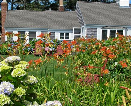 South Yarmouth Cape Cod vacation rental - Cottage view from gardens