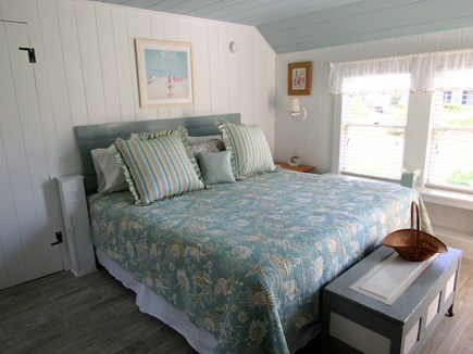 South Yarmouth Cape Cod vacation rental - King sized bed, fireplace, reading alcove, closet & shelves