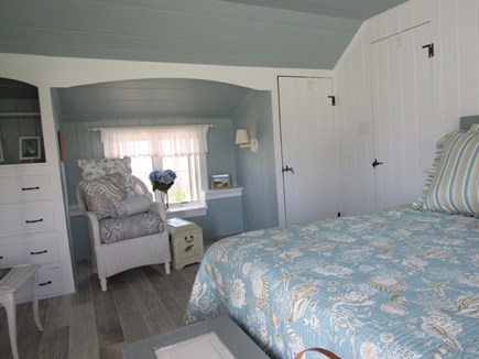 South Yarmouth Cape Cod vacation rental - Bedroom: King bed, closet, drawers, alcove