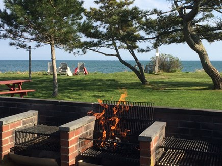 South Yarmouth Cape Cod vacation rental - Oceanfront barbecue