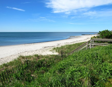 South Yarmouth Cape Cod vacation rental - Beach towards Hyannis