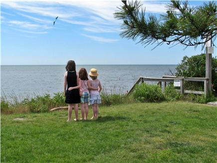 South Yarmouth Cape Cod vacation rental - Beach overlook & fresh water shower