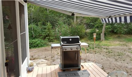 Wellfleet Cape Cod vacation rental - Grilling area out back