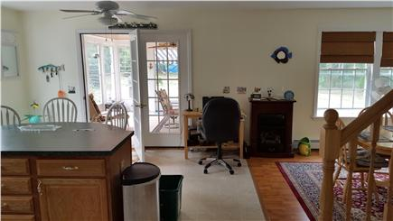 Wellfleet Cape Cod vacation rental - Open floor plan with kitchen and dining room
