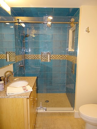 East Harwich Cape Cod vacation rental - Main floor bathroom, both bathrooms recently remodeled