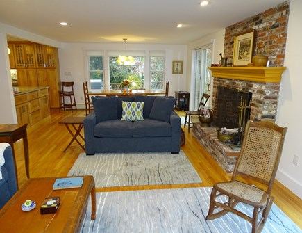 East Harwich Cape Cod vacation rental - View from the great room towards the dining and kitchen areas