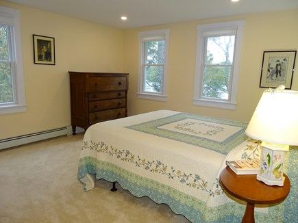 East Harwich Cape Cod vacation rental - Upstairs large queen bedroom with view of pond