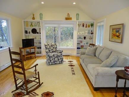 East Harwich Cape Cod vacation rental - Lovely family room with vaulted ceilings, TV