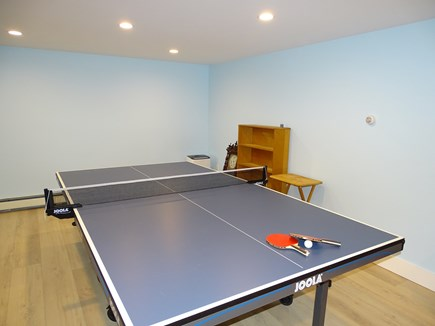 East Harwich Cape Cod vacation rental - Fun rec room with ping pong table, many games and door to yard