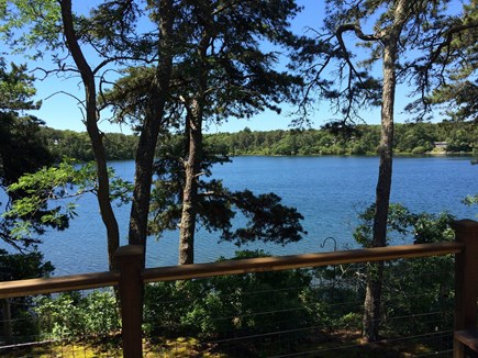 East Harwich Cape Cod vacation rental - The pond is great for warm water swimming, canoeing and fishing.