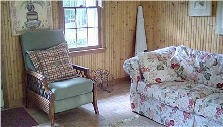 West Falmouth Village Cape Cod vacation rental - 1st floor Den with 32 inch HDTV.