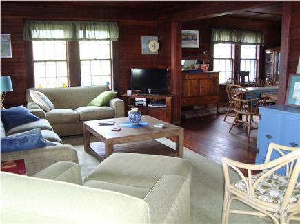 Brewster Cape Cod vacation rental - Living room and view of dining room