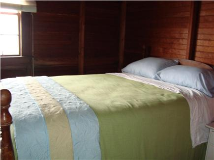 Brewster Cape Cod vacation rental - One of three bedrooms with a queen size bed and a view of the bay