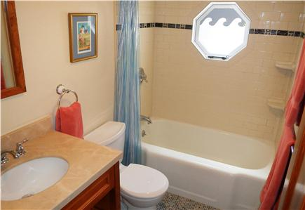 Falmouth Heights Cape Cod vacation rental - Vintage cottage bathroom is kid-friendly with cast iron tub