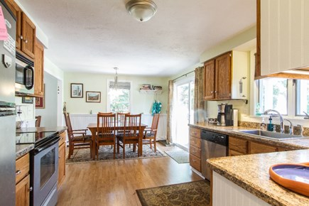 Eastham Cape Cod vacation rental - Kitchen and dining room. The table comfortably seats 6.