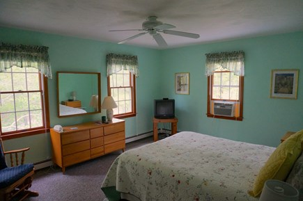 Eastham Cape Cod vacation rental - Master bedroom with queen bed and TV