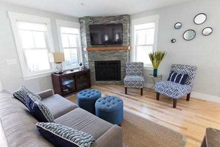 Provincetown Cape Cod vacation rental - Living Room Fireplace