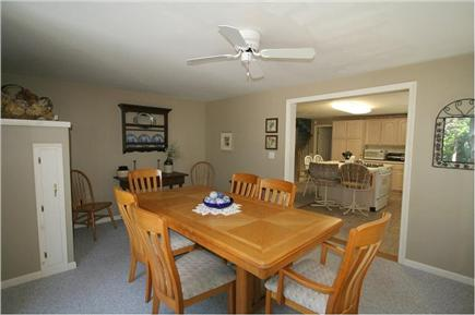 Brewster, Sea Pines Cape Cod vacation rental - Dining room with walk out to deck, grill and large private yard.