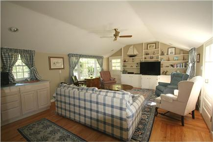Brewster, Sea Pines Cape Cod vacation rental - Large yet cozy living room with plenty of seating to watch TV.