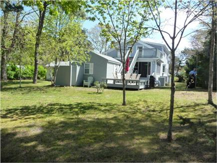 Brewster, Sea Pines Cape Cod vacation rental - Large private backyard with 2 large decks and an outdoor shower.