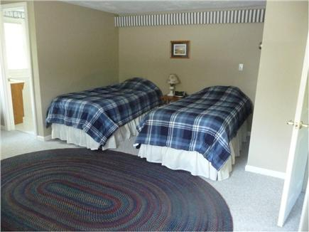 Brewster, Sea Pines Cape Cod vacation rental - Upstairs bedroom with twin beds, private bath and TV.