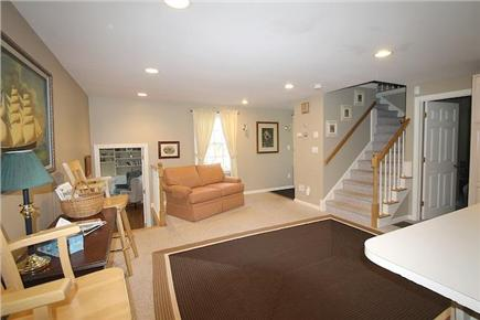 Brewster, Sea Pines Cape Cod vacation rental - Across from the kitchen is a seating area for socializing.