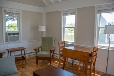 North Truro Cape Cod vacation rental - Living room with Dining Table