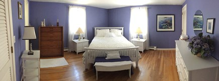S Harwich Cape Cod vacation rental - Master Bedroom with 1/2 bath