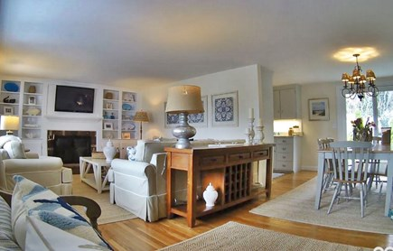 East Dennis Cape Cod vacation rental - Comfortable Family Room w/cable TV and WIFI