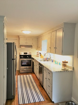 East Dennis Cape Cod vacation rental - Bright kitchen with granite and stainless appliances