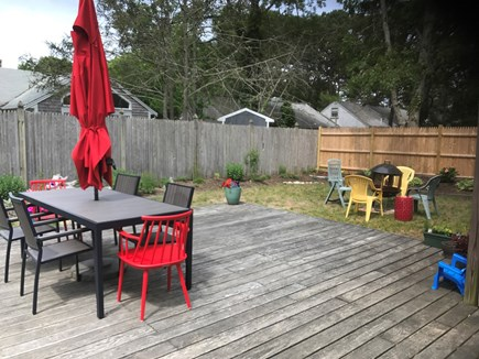 Dennis Cape Cod vacation rental - Private, comfortable back yard with deck, grill & outdoor shower.