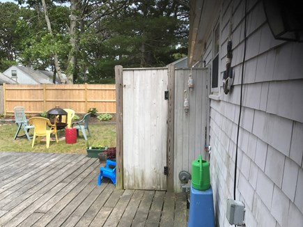 Dennis Cape Cod vacation rental - Outdoor shower with hot & cold water.