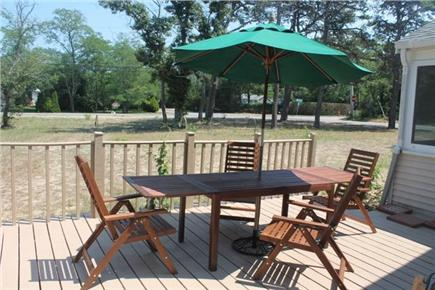 Eastham Cape Cod vacation rental - Deck, enclosed outdoor shower and charcoal grill