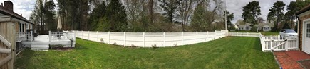 Osterville Osterville vacation rental - Fence removed, large open yard