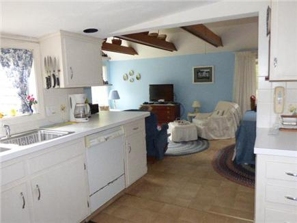 West Harwich Cape Cod vacation rental - Kitchen open to Living/dining area