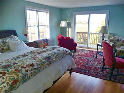 Sandwich Cape Cod vacation rental - King Master Suite - Jacuzzi + shower - marsh & ocean view balcony