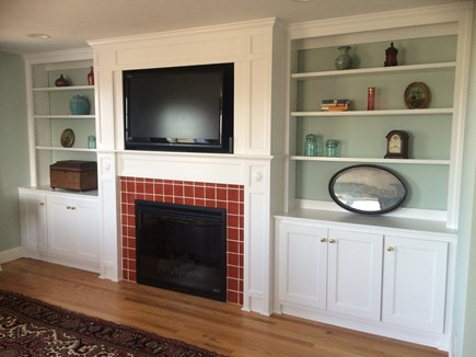 Sandwich Cape Cod vacation rental - Large screen TV /electric fireplace in Master Suite sitting area.