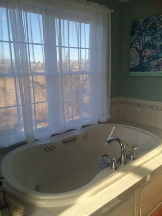 Sandwich Cape Cod vacation rental - Jacuzzi for two, shower, and double sinks in Master bath.
