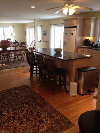 Sandwich Cape Cod vacation rental - Open floor plan from kitchen to dining to living, all water views