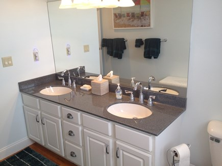 Sandwich Cape Cod vacation rental - Second floor guest bathroom has full bath/shower and double sinks