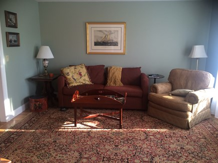 Sandwich Cape Cod vacation rental - TV room/den off of kitchen