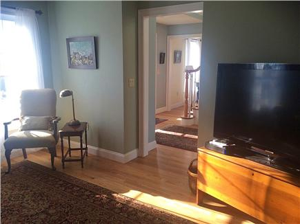"Sandwich Cape Cod vacation rental - TV room w/ 58"" TV, DVD, Cable, Internet, Wireless Headset"
