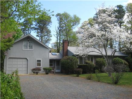 Dennis Cape Cod vacation rental - Front of house set back from the road with lots of parking