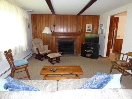 Dennis Cape Cod vacation rental - Living room with pull out sofa