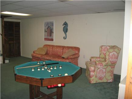 East Dennis Cape Cod vacation rental - Finished basement with pool table and ping pong table