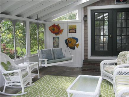 East Dennis Cape Cod vacation rental - Large screened in porch