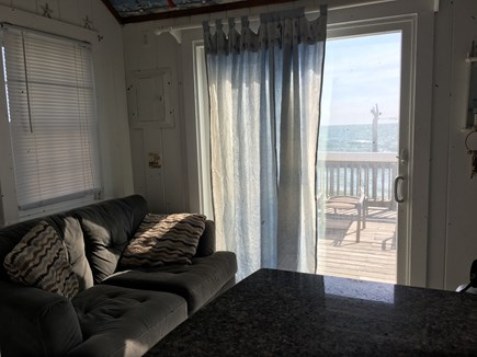 Truro Cape Cod vacation rental - View of the ocean from the breakfast bar